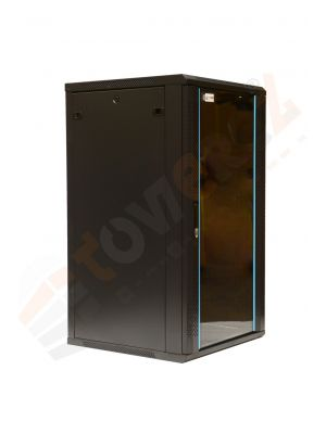 15U wall mounted Rack Servers 600 (W) x 600 (D)x 634 (H) Glass Front Door Black