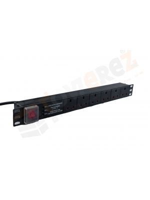 6-outlet UK-type PDU with main switch.3.0m-length cable,19''installation